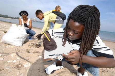 Join the clean up fun by pledging to Adopt a Beach! (Alliance for the Great Lakes)