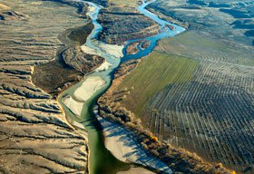 The Colorado River and its tributaries are drying up -- putting it first on American Rivers' list of endangered rivers. (Pete McBride/AR)