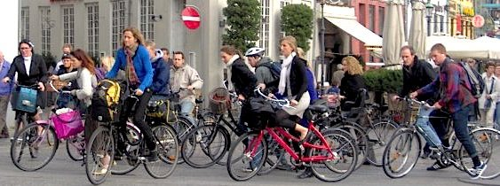 Got bike savvy? If you live in Copenhagen, then it's basically a given. (D. Simmons)