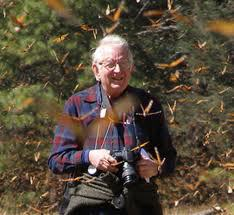 One of the foremost monarch scientists, Lincoln Brower, PhD, has been studying monarchs since 1956 (Sweet Briar College)