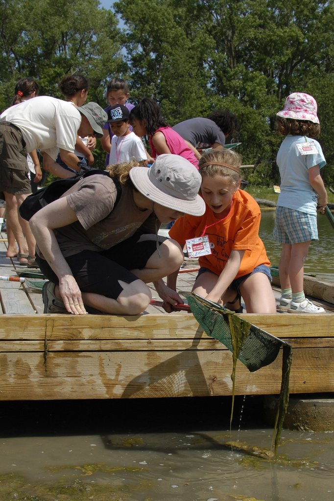Kids getting hands-on in nature with Chicago Wilderness.